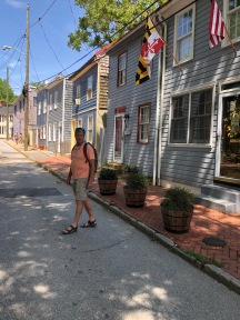 Walking along the beautiful historic homes