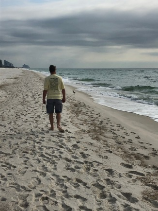 A morning walk on Pensacola Beach